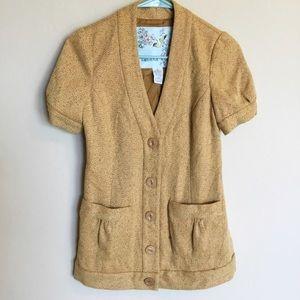 Anthropologie Tabitha Tweed Button Down Blazer